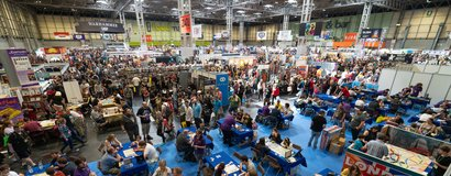 A15 Home Page Hall 1 NEC Crowds wide UK Games Expo 2019.jpg