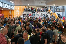 A18 Home Page Crowds Hall 1 Entrance Queue UK Games Expo 2019.jpg
