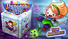 "Meet the Dungeon Drop family of ""drop-style"" tabletop games!"